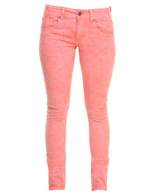 Outfitters Nation Harla Slim Fit Pants Shell Pink