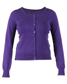 Outfitters Nation Naomi Cardigan Purple