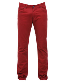 Outfitters Nation 322 Remarks Pants Dark Red