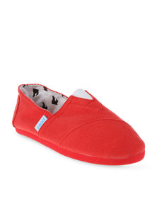 Paez Combi Slip On Shoes Red