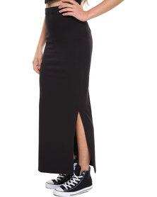 Paige Smith Tube Midi Skirt Black