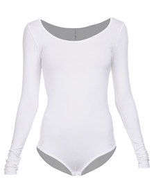 Paige Smith Exclusive Bodysuit Long Sleeve White
