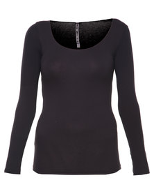 Paige Smith Roundneck Top Black