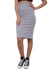 Paige Smith Pencil Skirt Grey