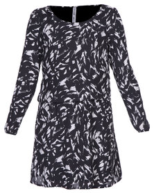 Paige Smith Print Dress Black