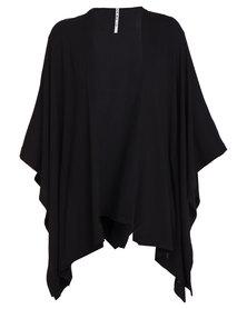 Paige Smith Kimono Knit Black