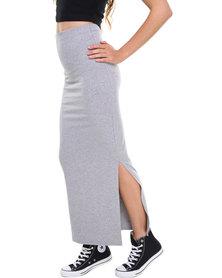 Paige Smith Tube Midi Skirt Grey