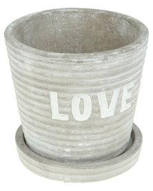 Pamper Hamper Round Love Flower Pot