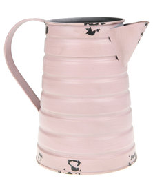 Pamper Hamper Distressed Vintage Watering Can Candyfloss Pink
