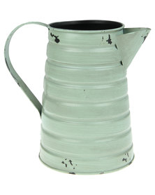 Pamper Hamper Distressed Vintage Watering Can Mint