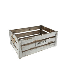 Pamper Hamper Vintage Flower Crate Cream With Manila Rope Handles