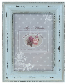 Pamper Hamper Distressed Vintage Photo Frame Duck-Egg