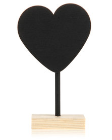 Pamper Hamper Blackboard  Heart Stand Black