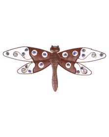 Pamper Hamper Metal Wall Art Dragonfly Brown