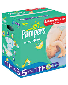 Pampers Active Baby Megapack Size 5 Junior 11-18kg x111