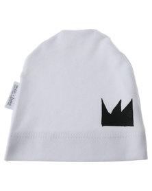 Panda & Frost Crown Beanie White