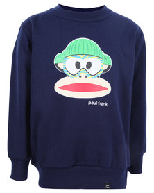 Paul Frank Snowboard Crew Sweater Navy