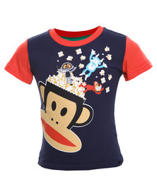 Paul Frank Popcorn Head Tee Navy