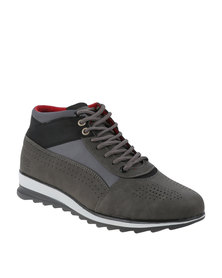 Paul of London  Pin Punched Boot Grey