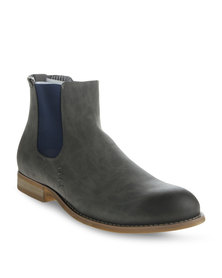 Paul of London Colour Block Insert Boot Grey