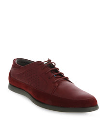 Paul of London Contrast Sole Lace Up Shoe Red