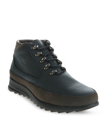 Paul of London Contrast Sole Lace Up Boot Navy