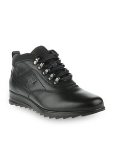 Paul of London D Ring Detail Casual Ankle Boot Black