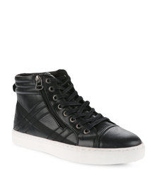 Paul of London Padded Collar Sneakers Black