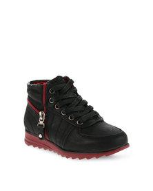 Paul of London High-Top Sneakers Black/Red