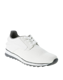 Paul of London Mesh And PU Jogger Shoe White