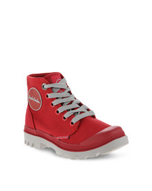 Paul of London Lace-up Boots Red/Grey