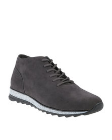 Paul of London Casual Lace Up Boot Charcoal