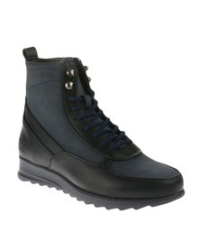 Paul of London Two Toned Boots Black/Navy