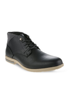 Paul of London Worker Boots Black