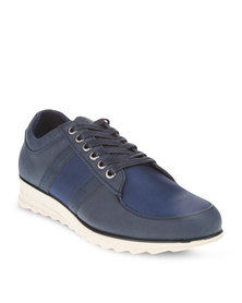 Paul of London Wedge Sole Casual Shoes Navy