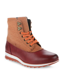 Paul of London Lace-Up Boots Oxblood