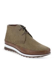 Paul of London Lace-Up Shoes Khaki