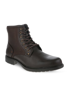 Paul of London Lace-Up Boots Brown