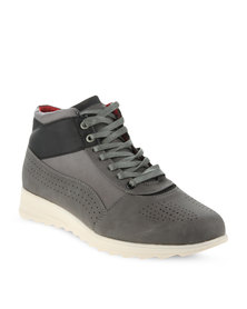 Paul of London Contrast Perforated Casual Boots Grey