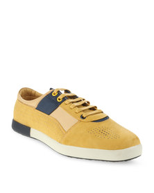 Paul of London Contrast Perforated Casual Shoes Yellow