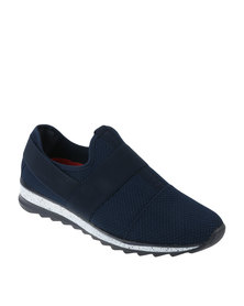 Paul of London Casual Slip on Mesh Jogger Navy