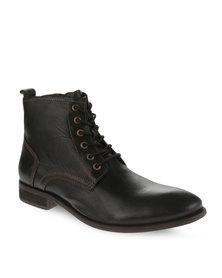 Paulo Vandini Rayburn Leather Boots Black