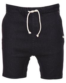 Peg Boomerang 2 Local Denim Shorts Black