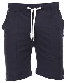 Peg Liberty Knit Shorts Navy