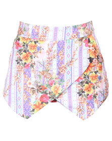 Peg Cross-Over Skort Multi-Coloured