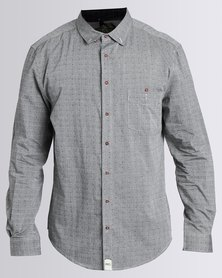 PEG Master Long Sleeve Button Up Shirt Grey