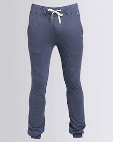 Peg Boomerang Knit Pants Light Blue