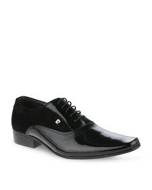Pierre Cardin Leather Lace-up Shoe Black