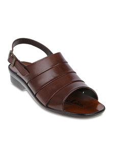 Pierre Cardin Open-Toe Casual Sandals Brown