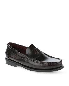 Pierre Cardin Leather Loafer Shoe Oxblood